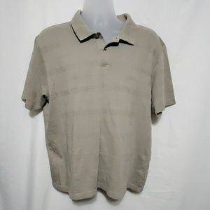 ALFANI MENS POLO SHIRT SIZE XL EUC BEIGE